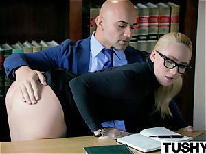 TUSHY bootylicious AJ Applegate penalized By Her boss