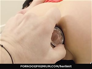 HER restrain - harsh rectal and face screw with Sasha Rose