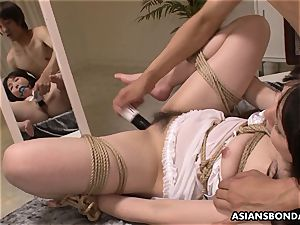 tart getting treated like a mega-slut with a hump plaything