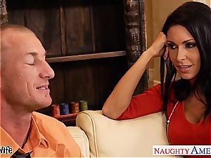 buxom bombshell Jessica Jaymes in need of a good boinking