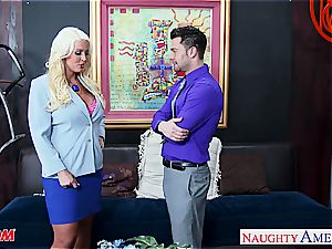 sensational Alura Jenson takes a humungous impaler deep inwards her