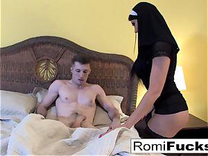 Nurse Romi answers Brick's prayers with anal fuck-fest