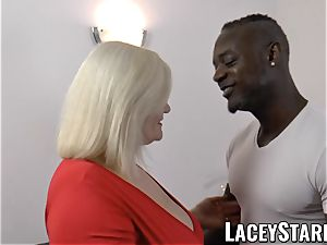 LACEYSTARR - grannie anally creampied with bbc