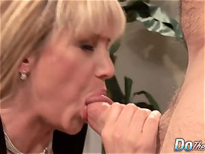 fabulous blond milf boinked good in front of her spouse