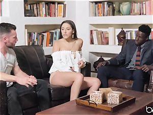 Abella Danger deep interracial smash with bbc