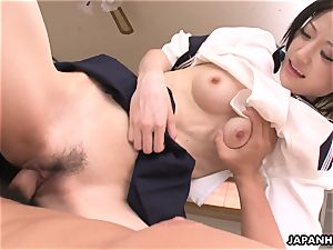 ultra-cute and cute japanese fuckslut getting porked real hard