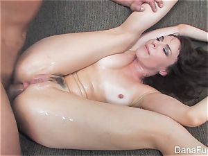 Dana DeArmond gets an buttfuck romping on the bed