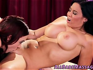 big-chested milf gobbles masseur