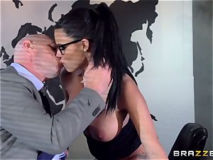big jugged Peta Jensen plumbed throughout the boardroom table