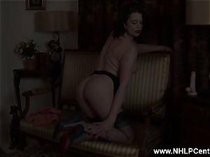 mummy undresses off retro underwear playthings nub in nylon high-heeled slippers