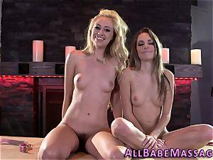 teenage and massagist girl-on-girl