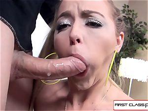 spectacular Iris Rose inhaling and screwing on big fat man sausage