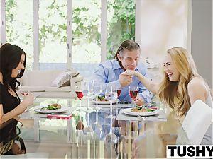 TUSHY Carter Cruise and Adriana Chechik sudden trio