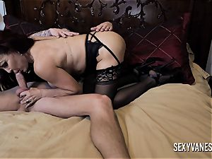 huge bap mature instructs her stepdaughter how to ravage