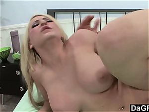 meaty boobed Madison Ivy rails a hefty man meat