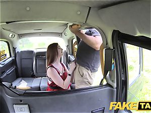 fake cab Olive flesh red-haired in undergarments