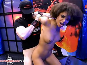 luxurious black Latina Luna Corazon yells in delectation