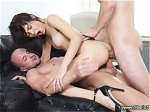 She Is Nerdy - Michelle - Nerdy assistant double-penetrated at work