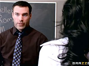 hook-up craving student Valerie Kay tears up the educator in the classroom