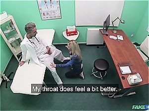 Deep orifice check-up at the man meat doctor's office