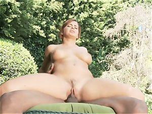 multiracial fuck-a-thon with Keisha Grey receiving a ginormous black jizz-shotgun