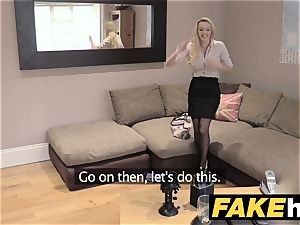 faux Agent UK first-timer fat bra-stuffers cougar inhales meatpipe for cash