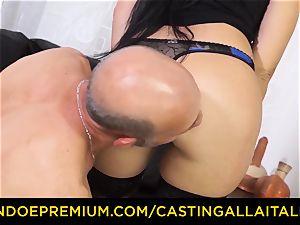casting ALLA ITALIANA - messy new-comer rectal casting