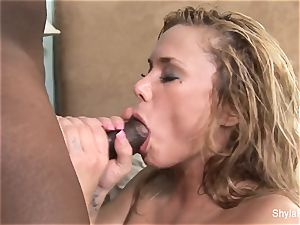 Shyla Stylez gets her cooter boinked by a ample black stiffy