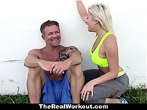 very motivating workout romp with scorching nubile trainer