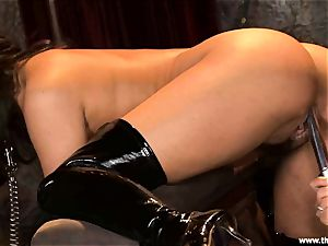 Alluring Charley chase gets toy plumbed by Lisa Ann