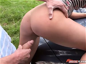 Lexi Lowe gets trio fuck-sticks to play with
