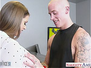 brown haired princess Brooklyn pursue fucked good by her stud