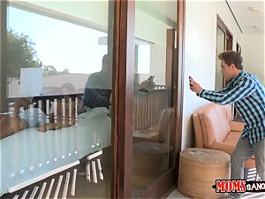 Eva Lovia catches her examine accomplice filming her and her stepmom getting bizarre