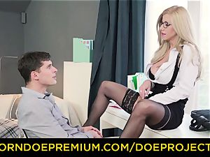 super-naughty schoolteacher - chesty cougar gets poked by her schoolgirl