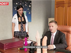 insane college gal puts all Kind of Things in Her ass
