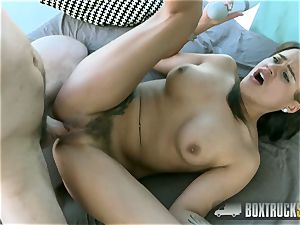 super-steamy Alice Axx uses a vibrator while Getting torn up