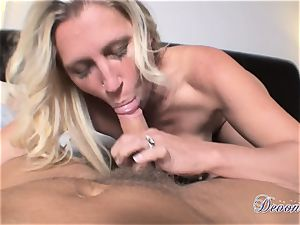 Devon Lee is enjoying her man's whip stuffed in her appetizing facehole