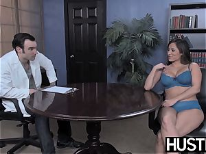 trampy cheerleader Leya Falcon destroyed by IR anal invasion