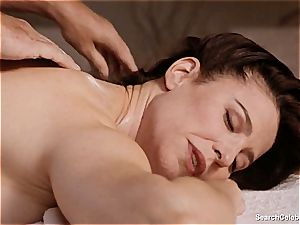 fabulous Mimi Rogers gets her entire bod caressed