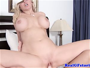 meaty breasted blondie housewife liking manstick