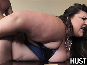 bbw goddess Bella Bendz arched over and plowed stiff