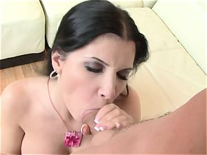 warm Rebecca Linares sates her man's fuck-stick making it indeed rigid to treat