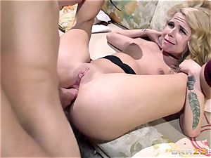 muddy emo hoe Alina West gets penalized for her booty and internal ejaculation