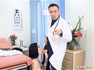 Marley Brinx gets her twat deeply inspected at the doctors