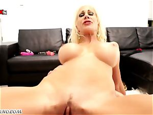 two marvelous horny milf Puma Swede & Franceska Jaimes enjoy hard-core three-way