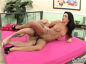 hubby observes wifey plow another fellow