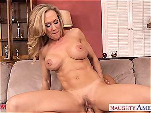busty blond mom Brandi enjoy take stiffy