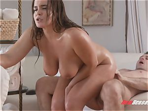 Natasha cute xxx hefty knocker rubdown