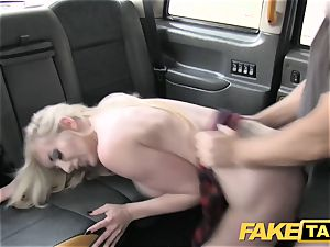 faux taxi superb boink ass fucking hookup and ample facial for ash-blonde