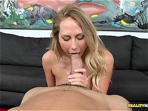 Carter Cruise gets her mouth chubby a monster